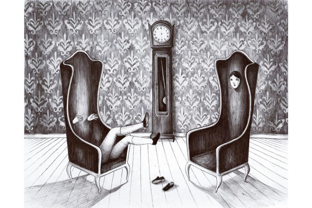 cadere dalla sedia